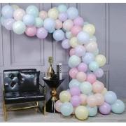 50 Unid Balão - Bexiga Candy Colors Tamanho 9 Cor Pastel