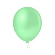 50 Unid - Balão Bexiga Candy Verde Baby 9 Polegadas