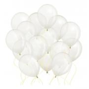 50 Unid - Balão Bexiga Cristal Transparente 8 Polegadas