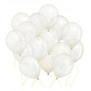 50 Unid - Balão Bexiga Cristal Transparente 9 Polegadas