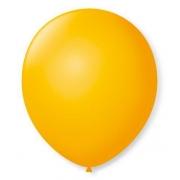 50 Unid Balão Bexiga Látex Amarelo Sol  Tamanho 8