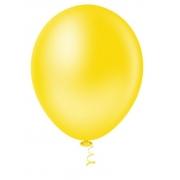 50 Unid Balão Bexiga Látex Amarelo  Tamanho 7
