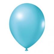 50 Unid Balão Bexiga Látex Azul Oceano Tamanho 8