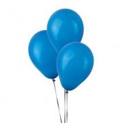 50 Unid Balão Bexiga Látex Azul Tamanho 6,5