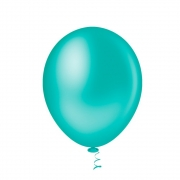 50 Unid Balão Bexiga Látex Azul Tiffany Tamanho 9