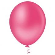 50 Unid Balão Bexiga Látex Pink Rosa Tamanho 9