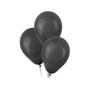 50 Unid Balão Bexiga Látex Preto Tamanho 8