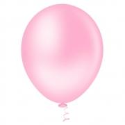 50 Unid Balão Bexiga Látex Rosa Tamanho 7