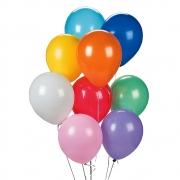 50 Unid Balão Bexiga Látex Sortido Tamanho 8