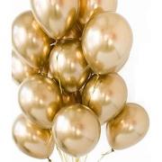 5 Balão Bexiga  Dourado 5 Polegadas Latex Cromado Metalizado