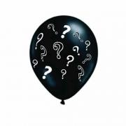Balão Bexiga Chá Revelação 25 Pol Preto GIGANTE Interrogação