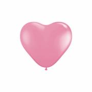 Balão Bexiga Coração Rosa 6 Polegadas Decoração Festa