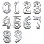 Balão Bexiga Prata 32 Pol Metalizado Numero 72 - 75 cms