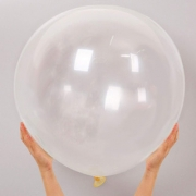 Balão Big 25 Pol Cristal Transparente Bexigão 250 Gigante  P/Doces