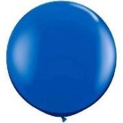 Balão Big 25 Pol Azul Escuro Bexigão 250 Gigante  P/Doces