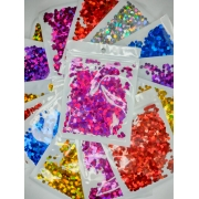 Confeti Metalizado Redondo 2mm P/ Bubble Transparente
