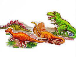 1 Kit enfeite de mesa Dinossauro 4 peças Festa Infantil