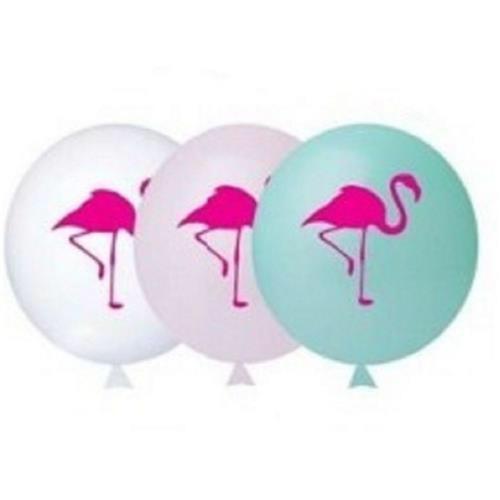 25 Balão Bexiga Latex Flamingo 9 Polegadas
