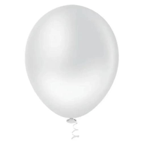 25 Und - Balão Bexiga Cromado Aluminio Gelo 9 Polegadas