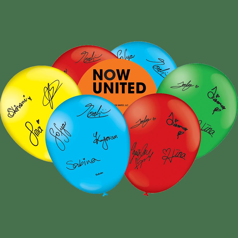 25 Unid - Balão Bexiga Festa Now United Tamanho 9 Pol