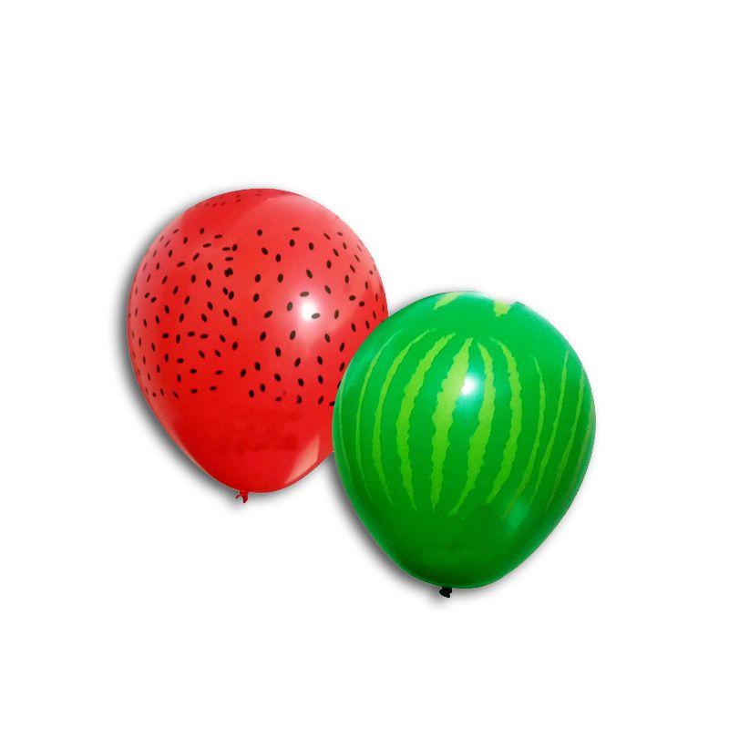 25 Unid - Balão Bexiga Melancia  Sortido 11 Polegadas