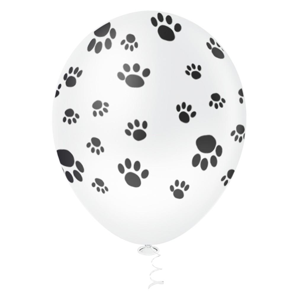 25 Unid - Bexiga Balões Tema Nº 10 Patinha Cachorro Dalmatas