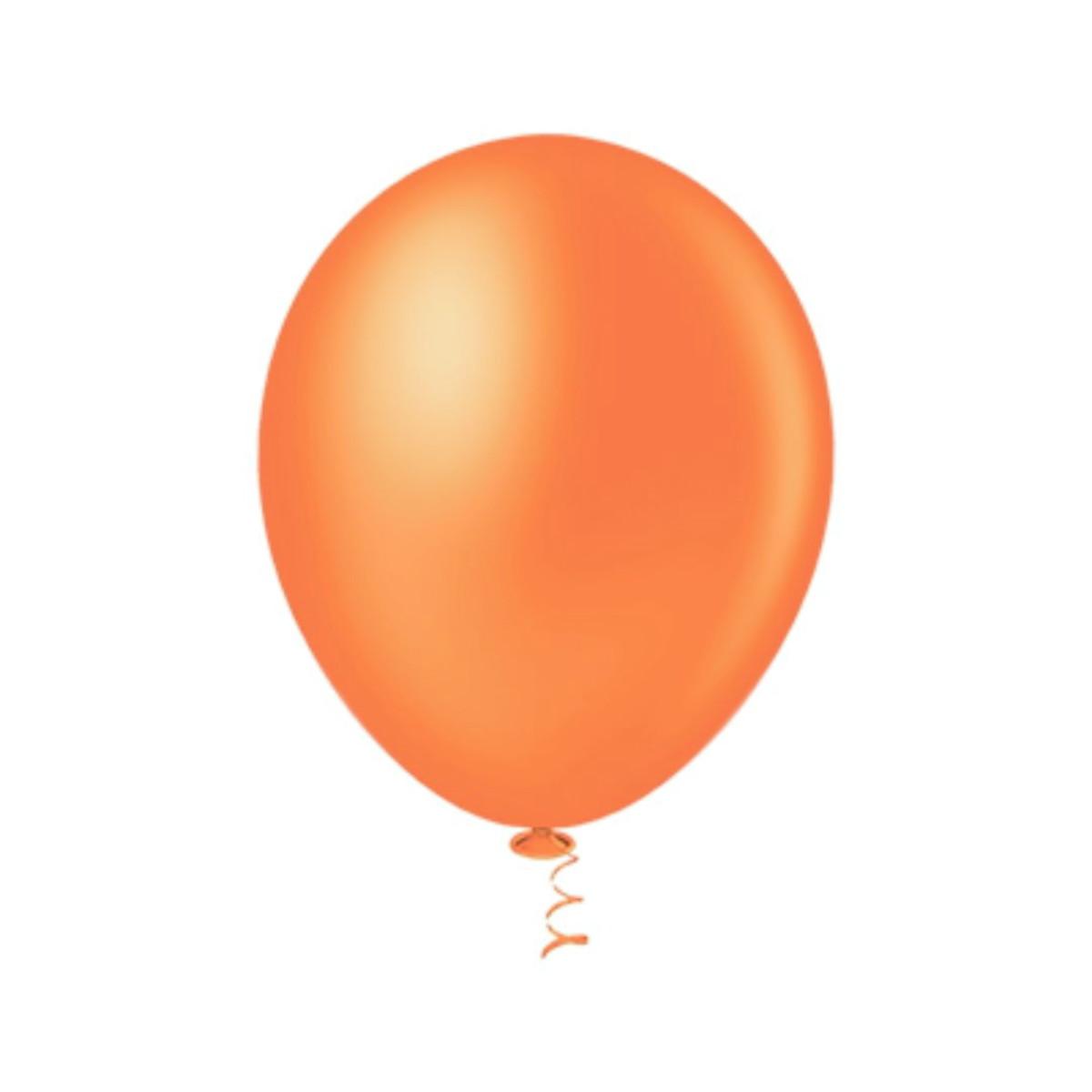 50 Unid Balão Bexiga Látex Laranja Tamanho 7