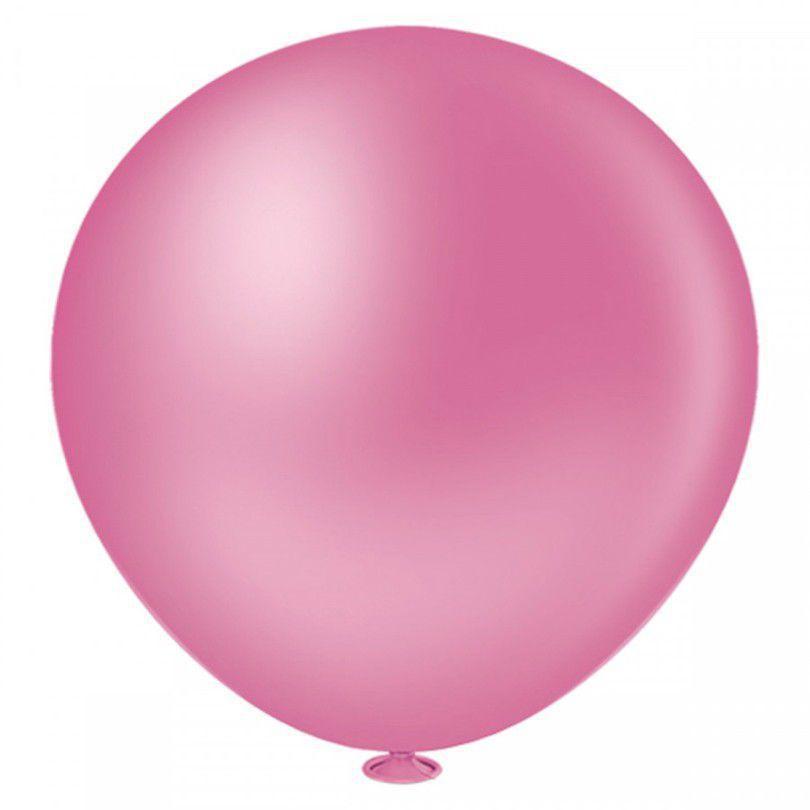 50 Unid Balão Bexiga Látex Rosa Maravilha Tamanho 8