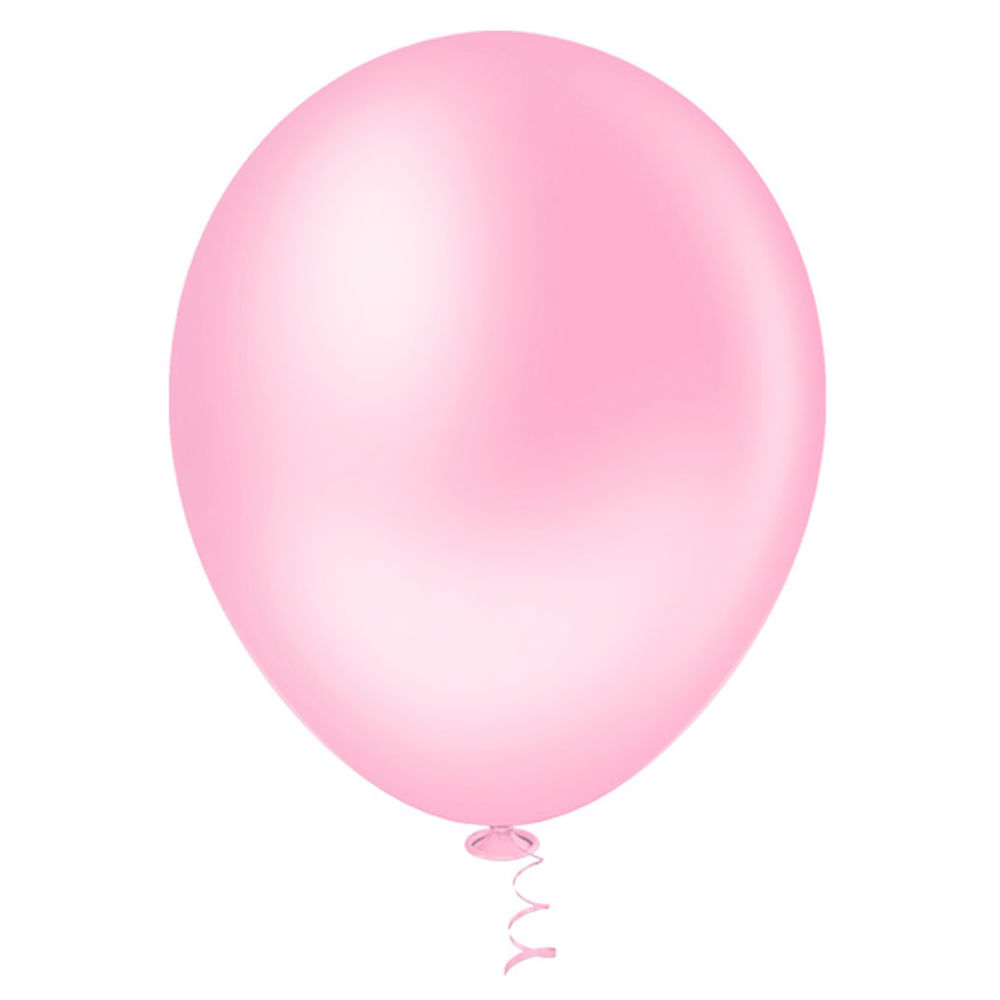 50 Unid Balão Bexiga Látex Rosa Tamanho 8