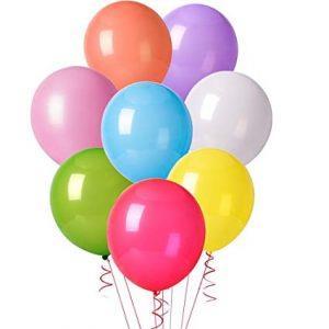 50 Unid Balão Bexiga Látex Sortido Tamanho 7