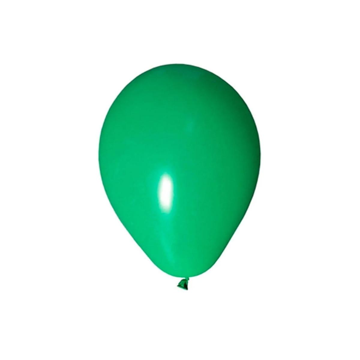 50 Unid Balão Bexiga Látex Verde Tamanho 6,5