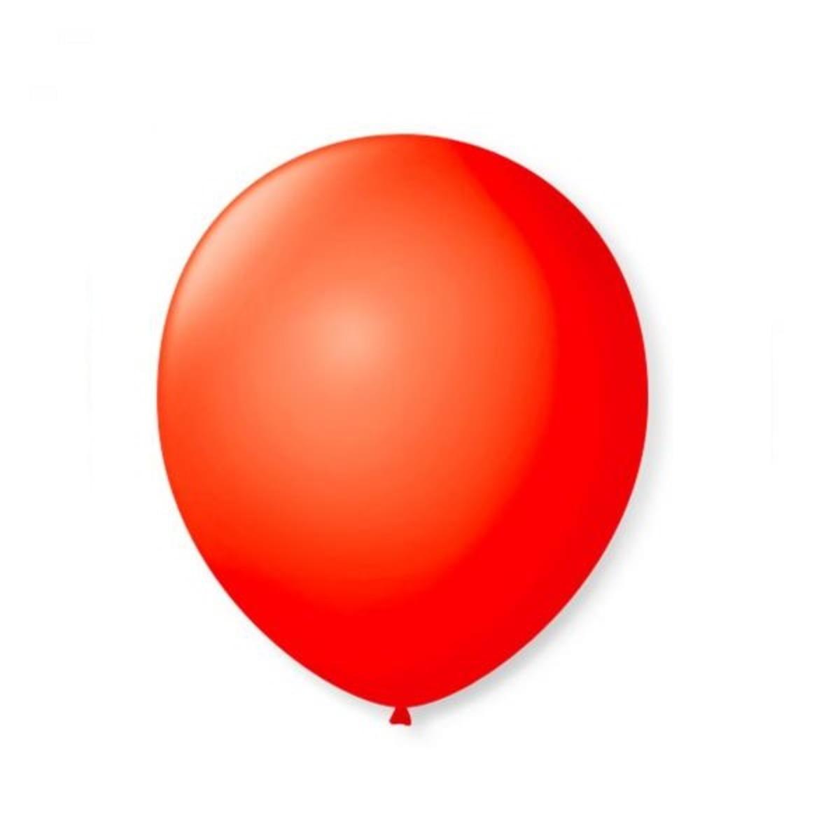 50 Unid Balão Bexiga Látex Vermelho Tamanho 7