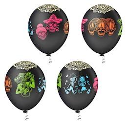 Balão Bexiga Caveira Mexicana N10- 25 Unidades Pic Pic
