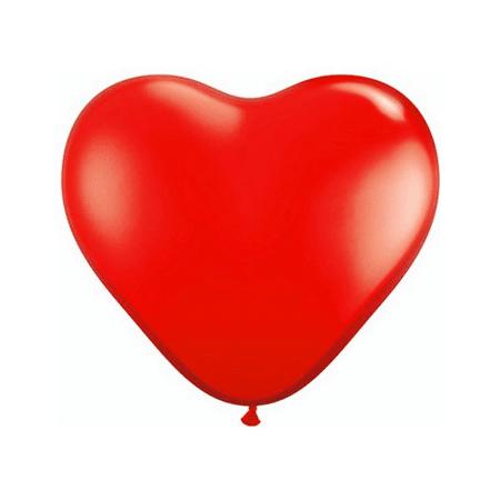 Balão Bexiga Coração Vermelho 6 Polegadas Decoração Festa