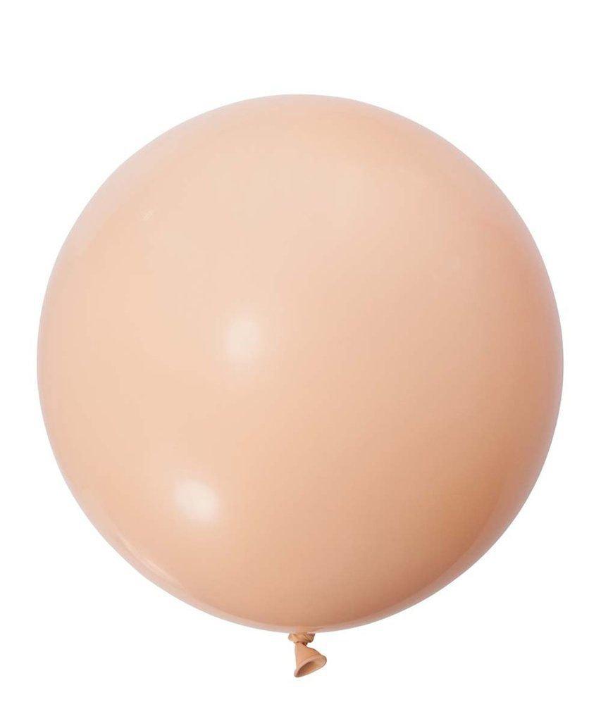 Balão Big 25 Pol Bege Nude Bexigão 250 Gigante  P/Doces