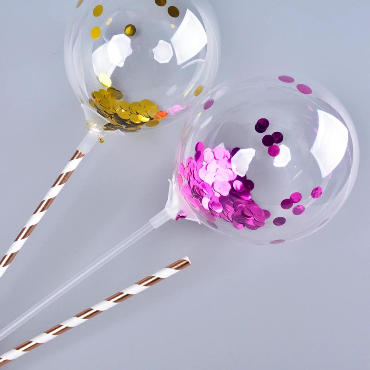 Balão Bubble BOBO 10 Pol Transparente Cristal