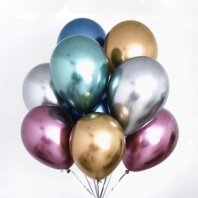 """Balão Cromado Metalizado  9"""" Pol"""