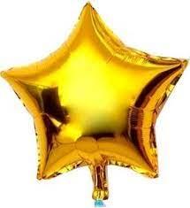 Balão Estrela Metalizado 20 cms - Bexiga.