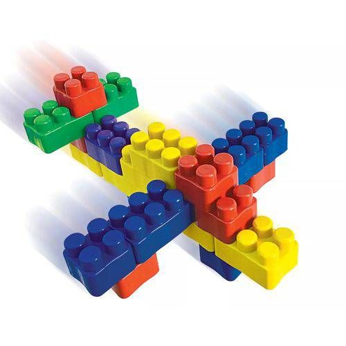 Bloco de Montar 24 peças Brinquedo Educativo