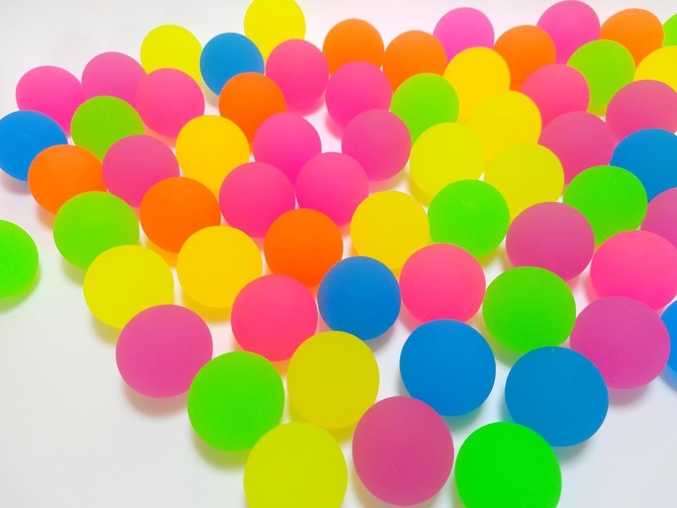 Bolinha Pula Pula 32mm Mix Neon