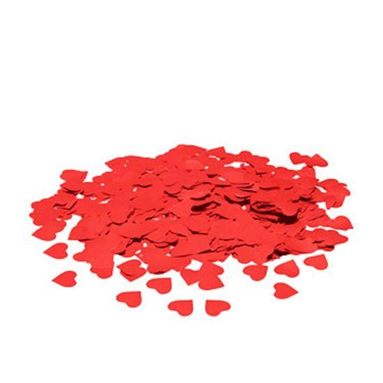 Confete Metalizado Coração Vermelho 10mm