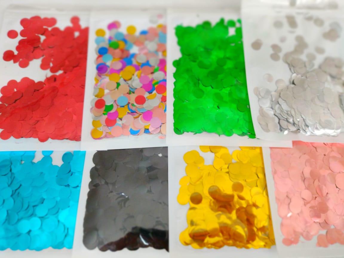 Confete Metalizado Redondo 10mm