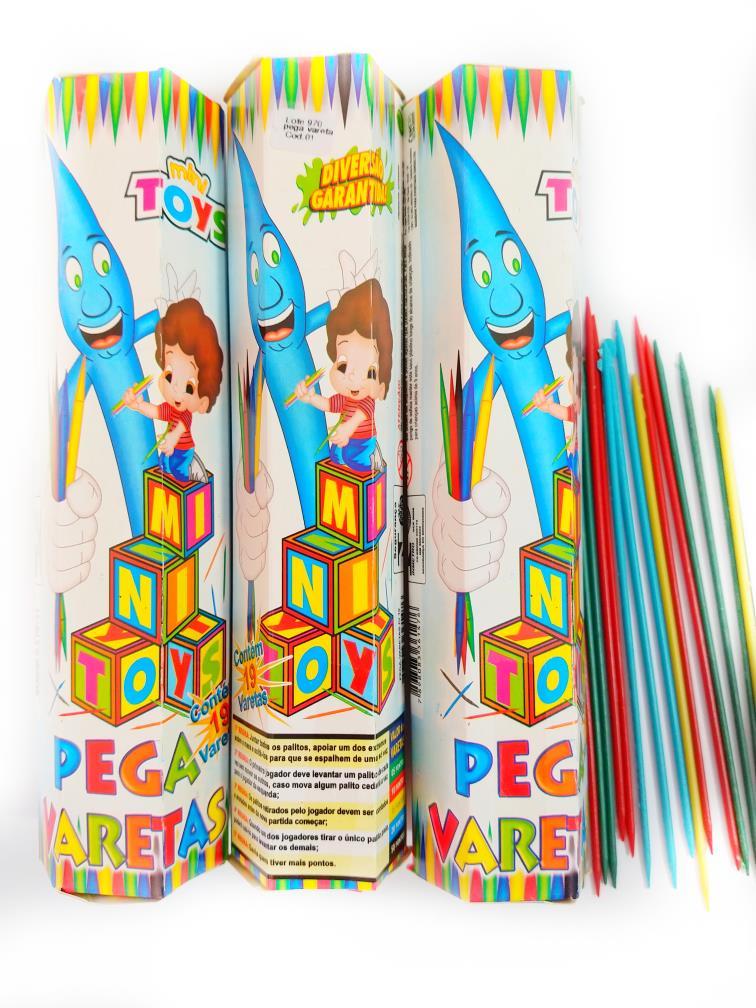 Jogo Pega Vareta brinquedo Educativo 19 palitos