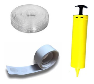 Kit 1 Fita P/ Arco desconstruido + 1 Cola Balão + 1 Bomba P/Bexiga