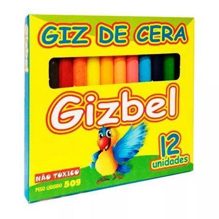 Kit Giz de Cera 12 Cores