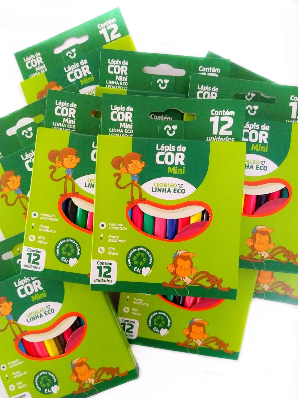 Lápis de Cor 12 Cores ECO  - Pequeno