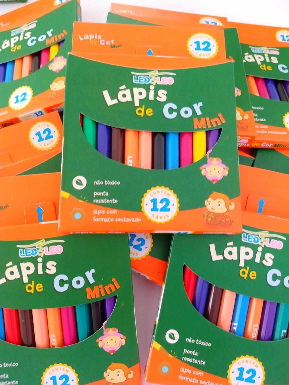 Lápis de Cor 12 Cores - Pequeno