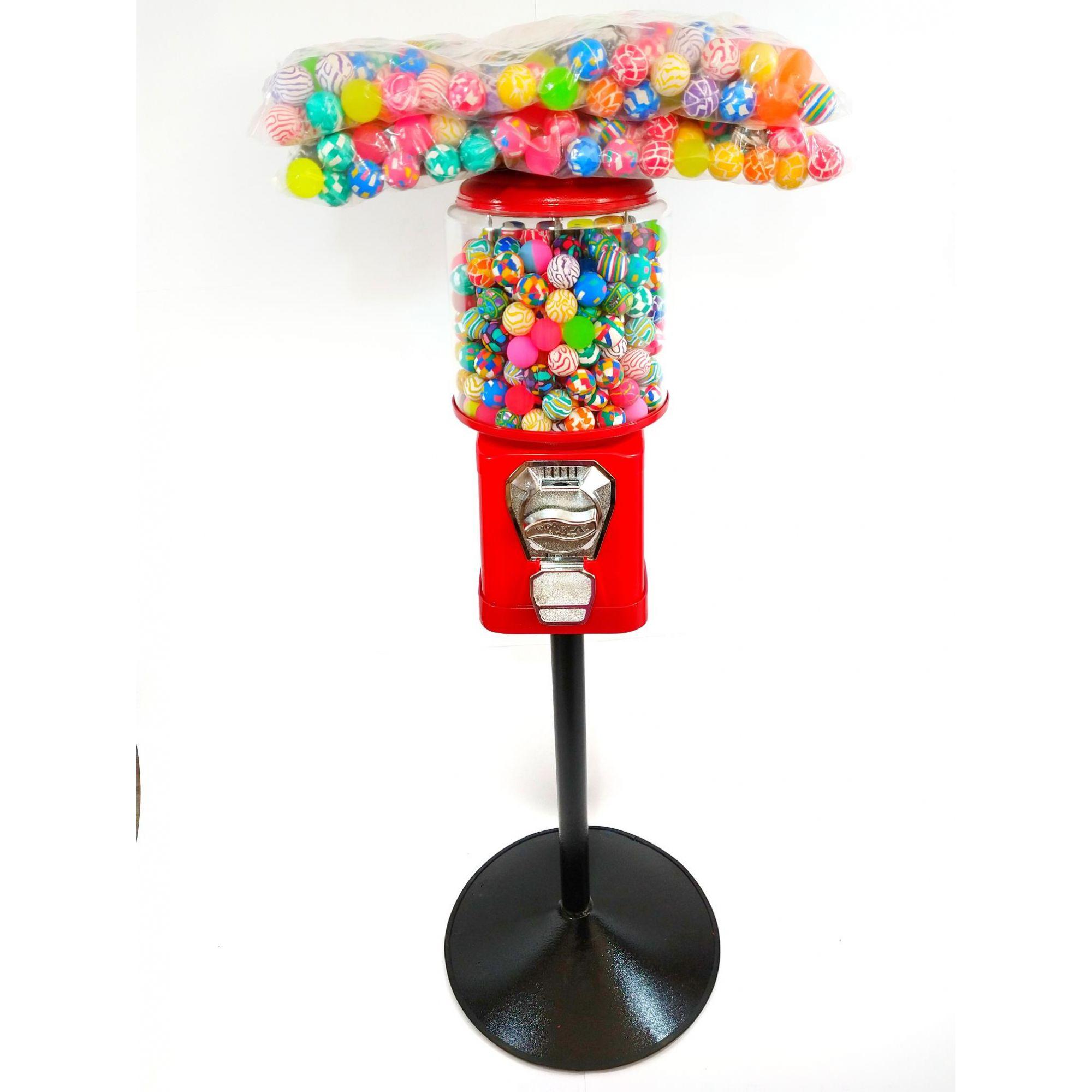 Maquina de Bolinha + Pedestal + Bolinha Pula Pula 27mm