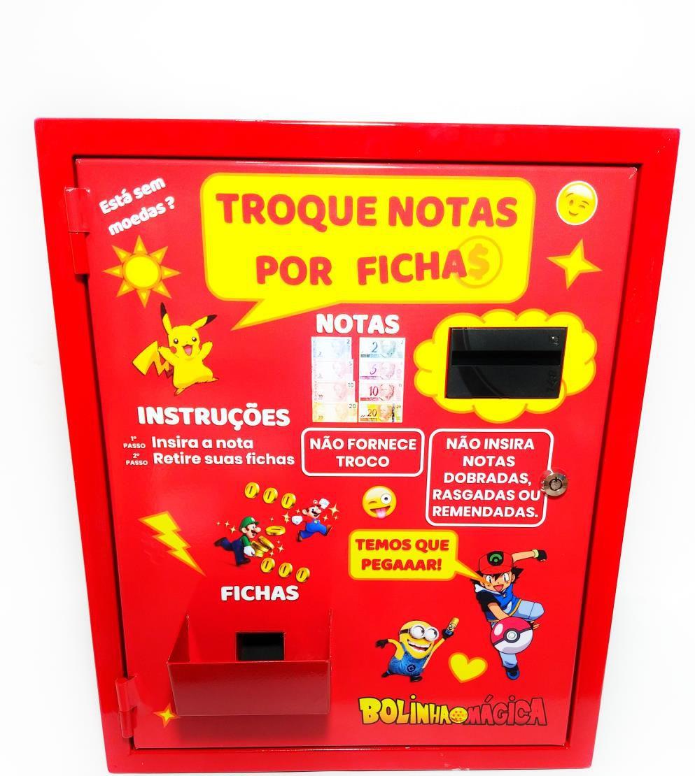 Maquina de Ficha para Maquina de Bolinha - Vending Machine