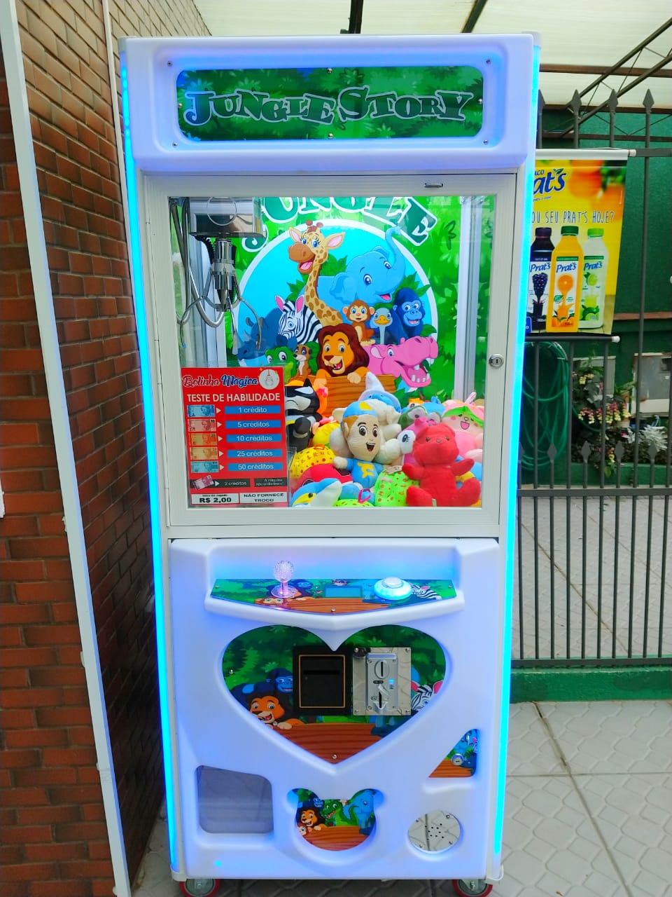 Maquina Grua para pegar Pelucias  Ursinhos com Noteiro Vending Machine